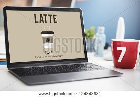Latte Coffee Milk Foam Froth Caffeine Beverage Concept