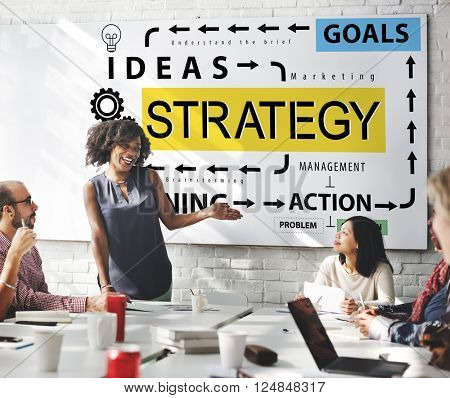 Strategy Ideas Planning Action Goals Concept