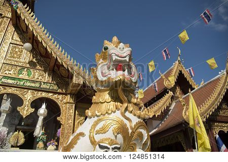 the wat Loi Khroh in the city of Chiang Mai in North Thailand in Thailand in southeastasia.