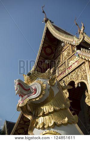 Asia Thailand Chiang Mai Wat Loi Khroh Temple