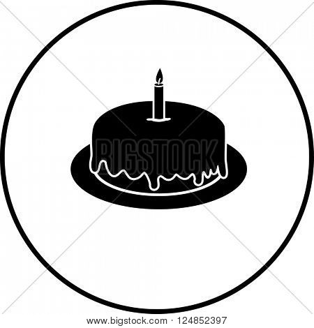 birthday cake with candle symbol