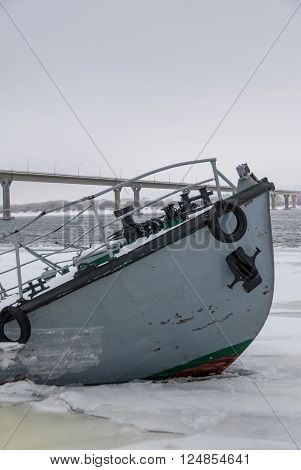 Sinking Ship In A Frozen River