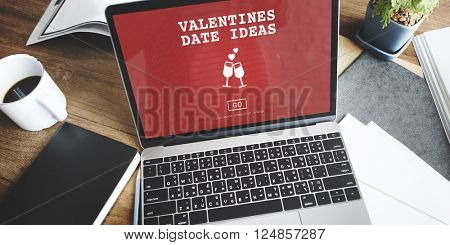 Valentines Date Ideas Romance Love Dating Toast Concept