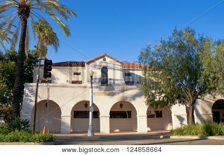 April 3 2016: Photo of San Gabriel City Hallwhich is located in San Gabriel Californa USA.