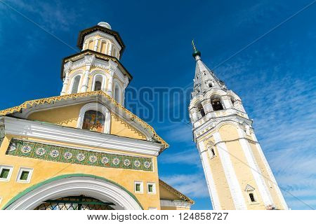 Resurrection Cathedral in a Tutaev, Russia. Golden Ring Travel