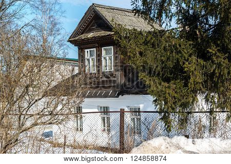 Old village house in the countryside in Russia