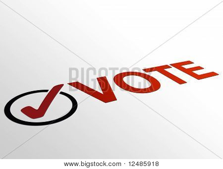 Perspective Vote Sign