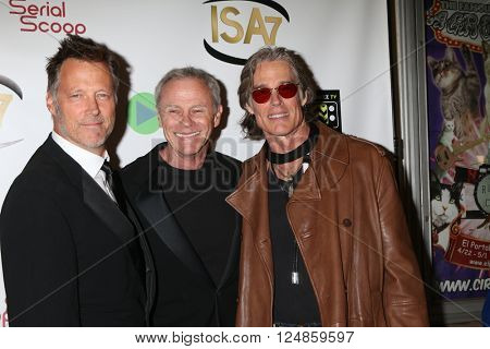 LOS ANGELES - APR 6:  Matthew Ashford, Tristan Rogers, Ronn Moss at the 7th Annual Indie Series Awards at the El Portal Theater on April 6, 2016 in North Hollywood, CA
