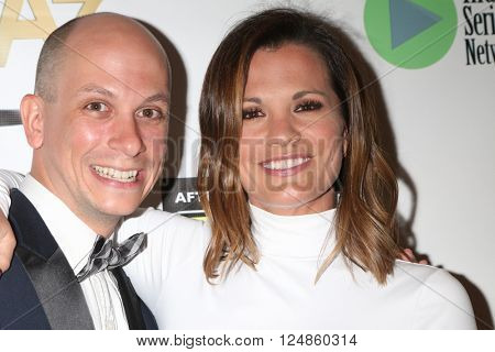 LOS ANGELES - APR 6:  Paul Gosselin, Melissa Claire Egan at the 7th Annual Indie Series Awards at the El Portal Theater on April 6, 2016 in North Hollywood, CA