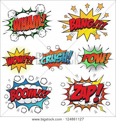 Comic speech bubble set designed for comic background