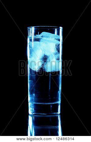 blue drink on black