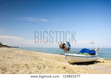 Fisher boats at the beach