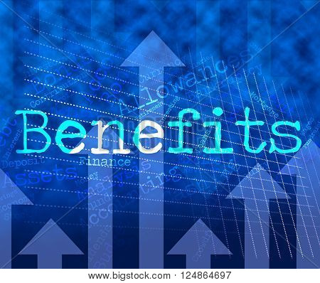 Benefits Word Indicates Reward Words And Wordcloud