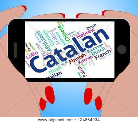 Catalan Language Represents Word Translator And International