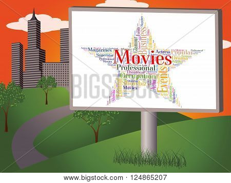 Movies Star Represents Motion Picture And Entertainment