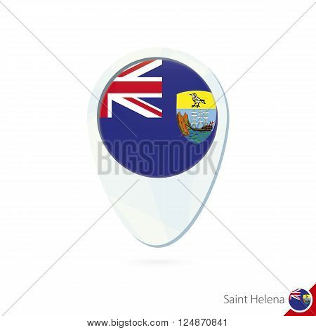 Saint Helena Flag Location Map Pin Icon On White Background.