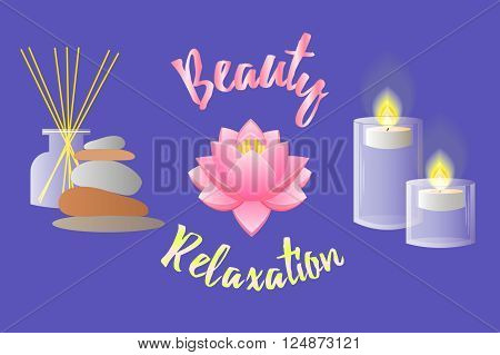Accessories for Beauty Salon Relaxation Aromatherapy and Massage.
