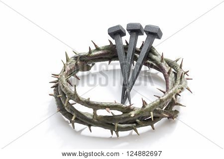 Jesus Christ Crown Of Thorns And Nails.