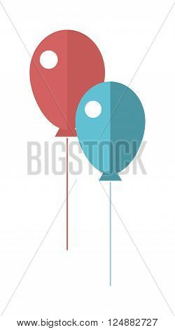 Party colorful balloon carnival festive surprise design. Colorful balloons carnival happy surprise group helium string. Set of colorful vector balloons good for birthday party anniversary celebration.