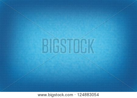 Light blue abstract background uneven bricks and dark blue vignette