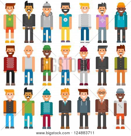 Cartoon characters face job people and cartoon characters people worker office suit. Colorful avatar characters face. Group cartoon characters people different professional manager person vector.