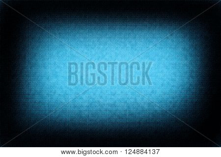 Light blue abstract background uneven bricks and black vignette