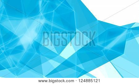 Blue abstract technology futuristic network - fantasy plexus background. 3D rendering.