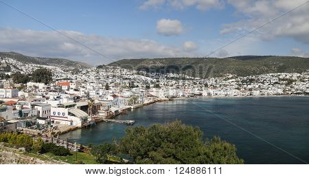 Bodrum Town in Aegean Coast of Mugla City Turkey
