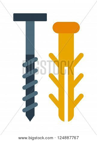 Bolts vector. Bolts illustration. Bolts isolated on white. Bolts gray icon. Bolts flat isolated. Bolts silhouette. Bolts flat style. Bolts tool