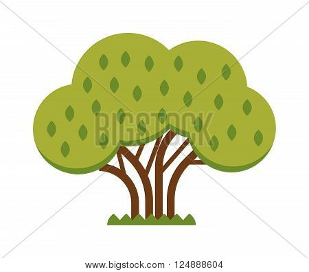 Apple tree harvesting red fruits and apple tree summer food. Natural apple agriculture organic healthy plant. Green tree full of red apple garden summer organic season food fruits flat nature vector.