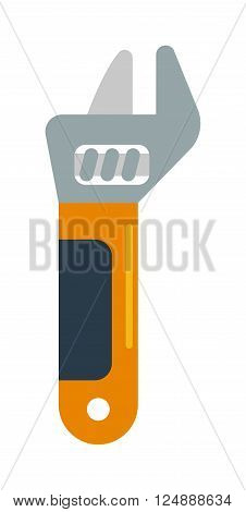 Wench tool vector. Wench tool illustration. Wench tool isolated on white. Wench tool icon. Wench tool flat style. Wench tool silhouette. Wench tools construction