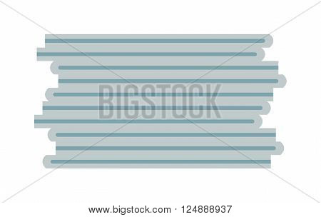 Paper stack blank and clean paper sheet. Clean paper stack template texture frame notepad, graphic parchment board notebook. Blank stack of paper note empty document design business space flat vector.