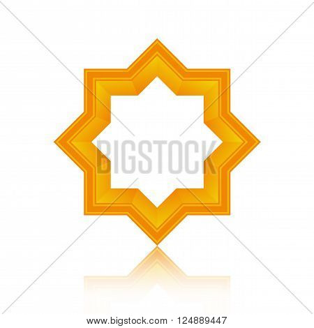 Abstract symmetric geometric icon design, Vector illustration