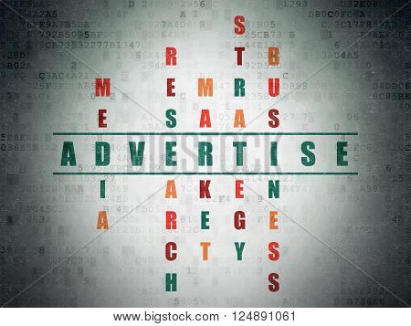 Advertising concept: Advertise in Crossword Puzzle