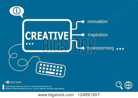 Creative and marketing concept. Business concept background