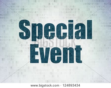 Finance concept: Special Event on Digital Paper background