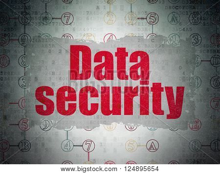 Safety concept: Data Security on Digital Paper background