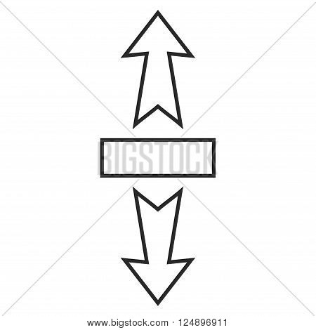 Stretch Arrows Vertically vector icon. Style is outline icon symbol, gray color, white background.