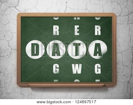 Data concept: Data in Crossword Puzzle