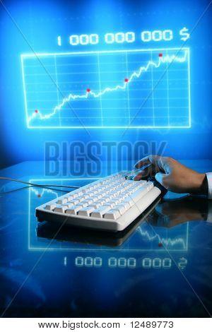 Kaufmann Eingabe Finanzdaten