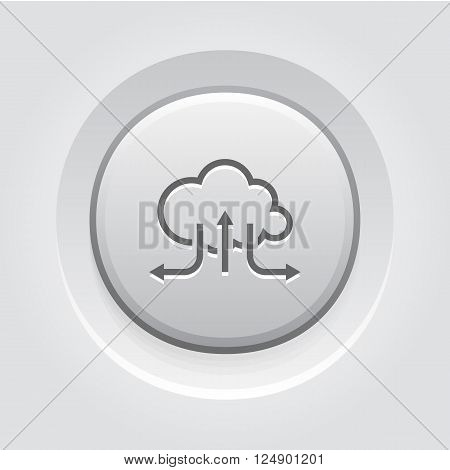 Accelerate Your Cloud Icon. Business Concept. Grey Button Design