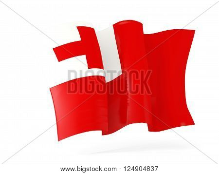 Waving Flag Of Tonga. 3D Illustration