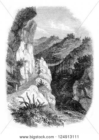 South America, vintage engraved illustration. Magasin Pittoresque 1857.