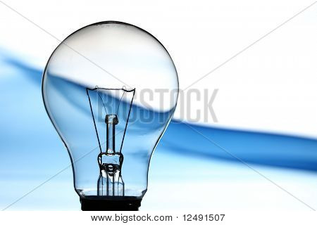 bulb on abstract background macro close