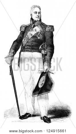 William IV, Prince Regent of England, vintage engraved illustration. Colorful History of England, 1837.