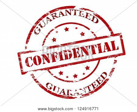 Rubber stamp with text confidential guaranteed inside vector illustration