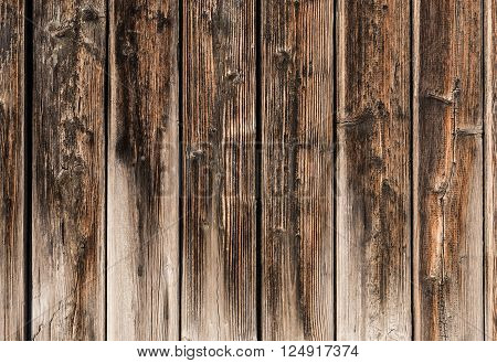 wooden wall with raw paint, background and texture