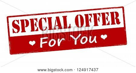 Rubber stamp with text special offer for you inside vector illustration