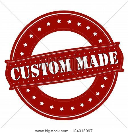 Rubber stamp with text custom made inside vector illustration