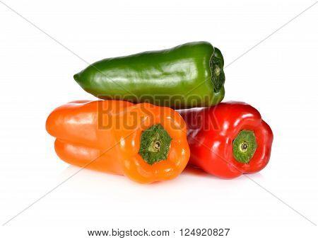 fresh Aura sweet pepper on white background